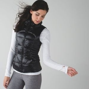 LULULEMON Fluffin Awesome Black Down Puff Vest